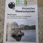 [Update] Artikel in der Biwakschachtel des Deutschen Alpenvereins Sektion Kronach/Frankenwald